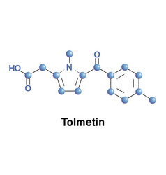 tolmetin is a nsaid vector image