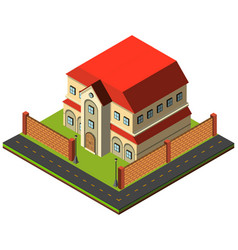 two storey house in 3d design vector image