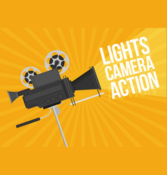 video camera flat design vector image