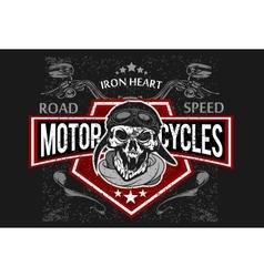 Vintage Biker Skull t-shirt prints emblems vector image