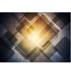 dark grunge geometric background vector image