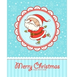 Funny and cute Christmas card vector image vector image
