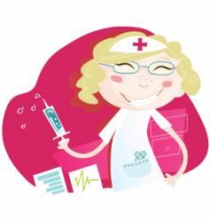 hospital nurse vector image