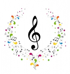 music logo treble clef and vector image vector image