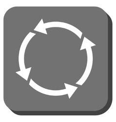 Recycle Rounded Square Icon vector image