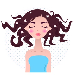 Spa woman with beautiful hair vector image vector image