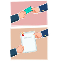 Businessman Exchanging vector image vector image