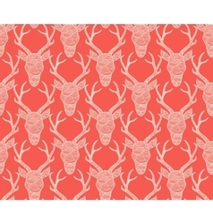 Christmas red seamless lace background vector image