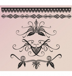 floral and borders vector image vector image