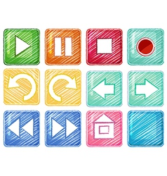 Different icons vector image vector image