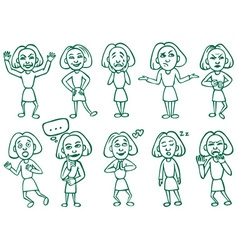 emotions and postures vector image vector image