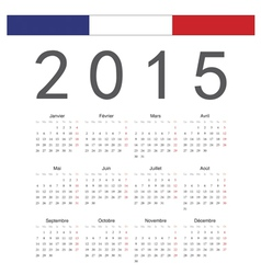 Simple french 2015 year calendar vector image vector image