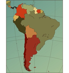 south america map vector image vector image