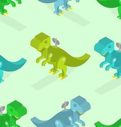 Toy dinosaur seamless pattern Clockwork vector image