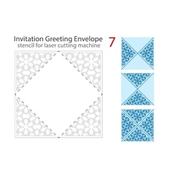 Envelope template For Laser cut vector image