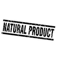 square grunge black natural product stamp vector image vector image