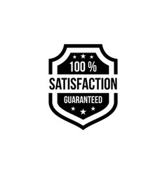 100 satisfaction guaranteed shield vector