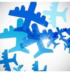 Abstract background plane vector