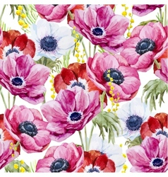 Anemones flowers pattern vector