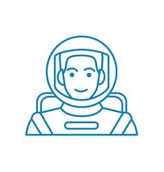 astronaut linear icon concept astronaut line vector image