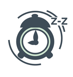 awaking from sleep concept alarm clock isolated vector image