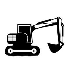 backhoe heavy machinery pictogram icon image vector image