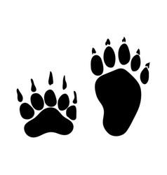 Badger footprint vector