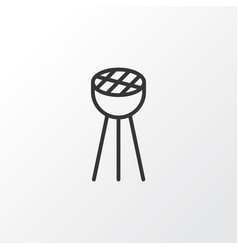 Bbq icon symbol premium quality isolated grill vector