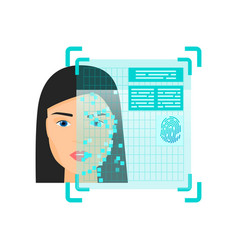 Biometric face recognition system obtain personal vector