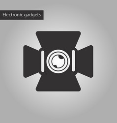 Black and white style icon camcorder vector