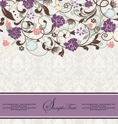 bridal shower invitation with purple flowers vector image