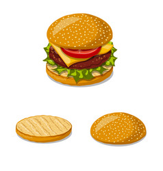 Burger and sandwich sign vector