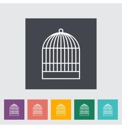 Cage icon vector image