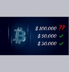 Can bitcoin btc hit 100000 dollars polygonal vector