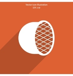 Car headlight flat icon vector image