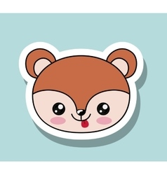 Chipmunk kawaii style isolated icon design vector