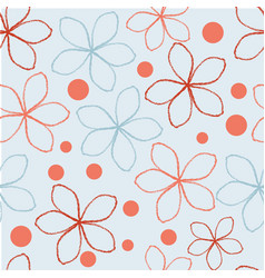 Colourful hand drawn red and coral abstract vector