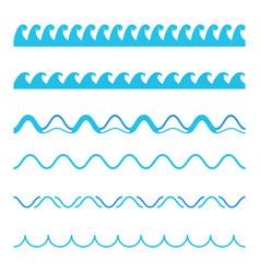 creative of blue sea line vector image