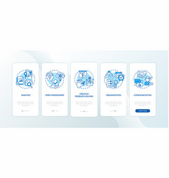 creative thinking types onboarding mobile app vector image