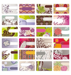 cute business card vector image vector image