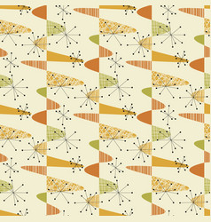 Cute middle age geometric seamless pattern vector