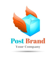 Delivery post Volume Logo Colorful 3d Design vector