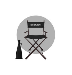 Directors chair with megaphone vector
