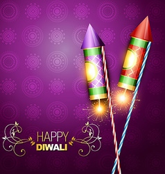 Diwali festival cracker vector