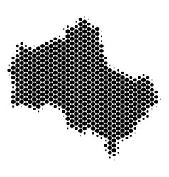 Dot halftone moscow oblast map vector