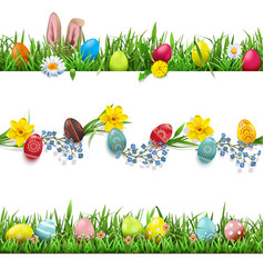 easter borders set vector image