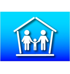 Family and home concept vector image