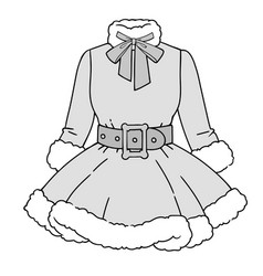 Festive womens outfit for christmas vector