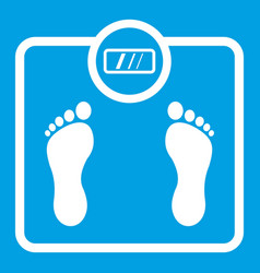 floor scales icon white vector image