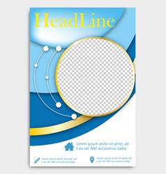 Flyer template brochure design editable a4 poster vector